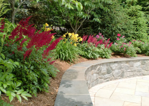 Beautiful plantings patio Reston VA