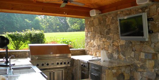 Outdoor Kitchen pavilion grill station Leesburg