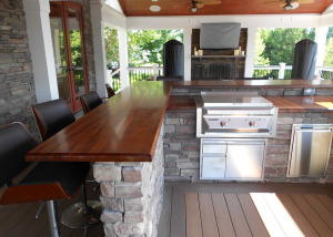 Outdoor Kitchen deck custom bar Ashburn VA