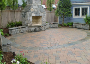 Paver patio fireplace Arlington VA