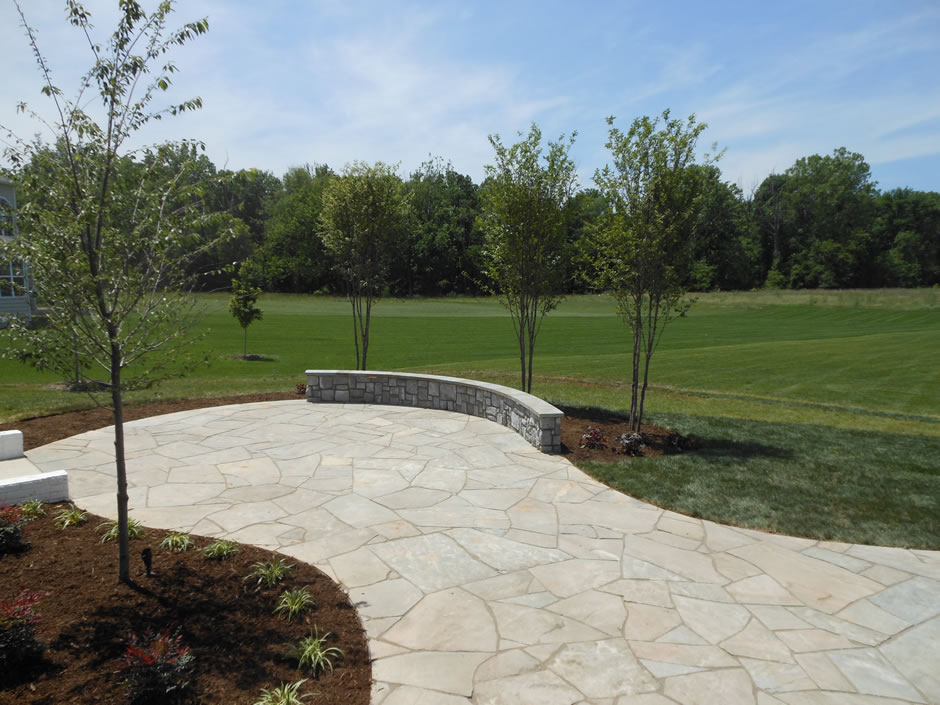 irregular flagstone patio Ashburn