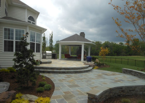 Custom backyard patio and gazebo Ashburn VA