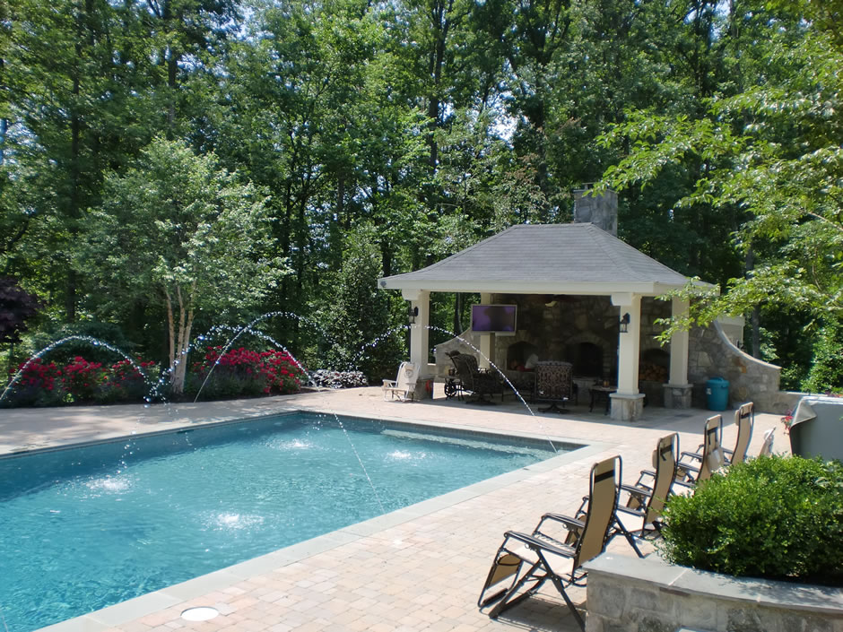 Swimming pool design in northern va m m professional for Pool design virginia
