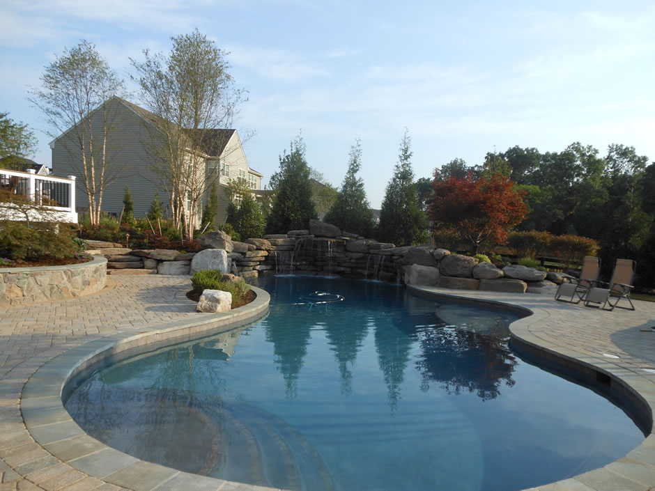 Lagoon style pool in Ashburn VA