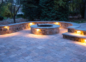 Firepit and Landscape Lighting in Ashburn, VA