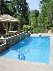 Rectangular pool in McLean VA