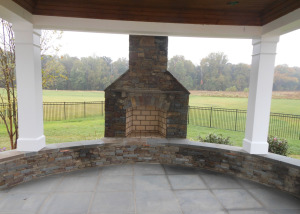 Fireplace patio and pavilion Ashburn Virginia