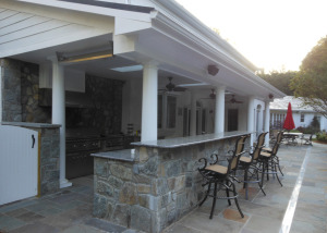 Outdoor kitchen serving bar Vienna VA