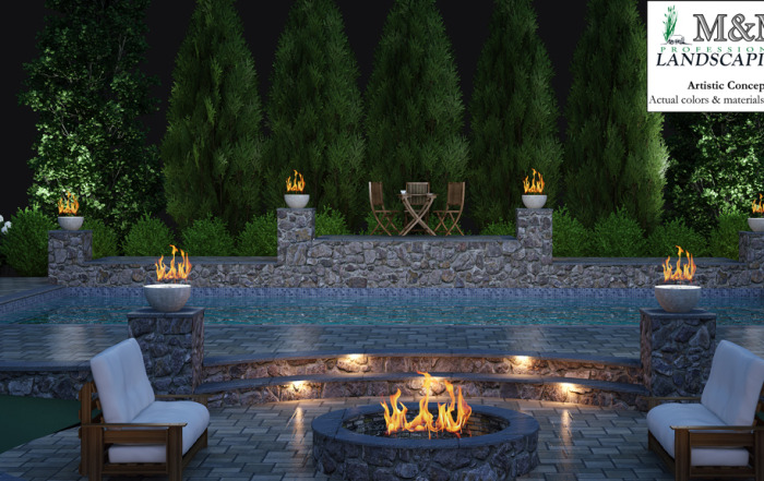M m professional landscaping northern va landscape company for Pool design northern virginia