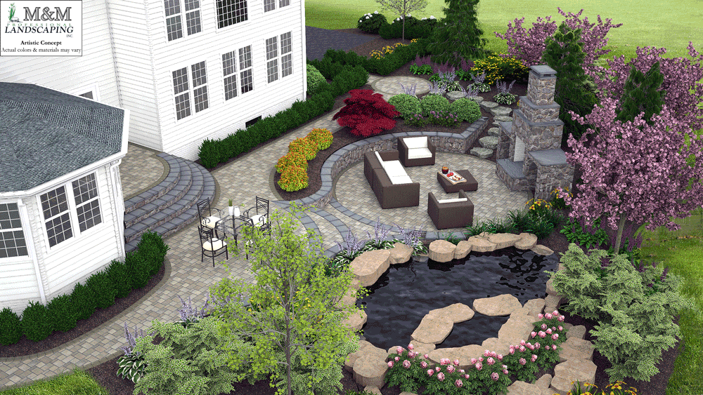 3d landscape design services for Sample landscape plan