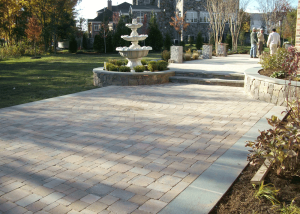 Paver patio in Belmont