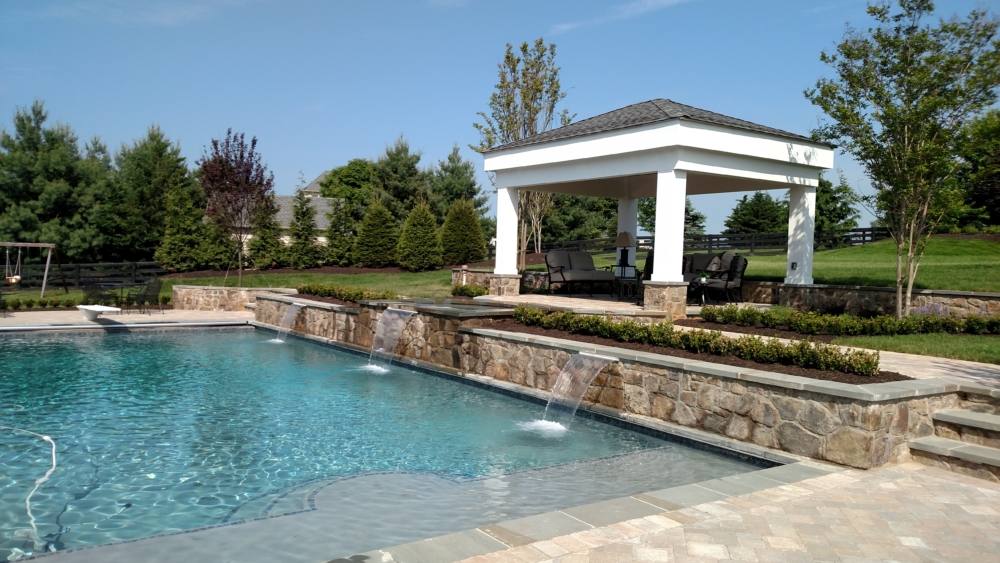 Swimming pool installation Loudoun County, VA