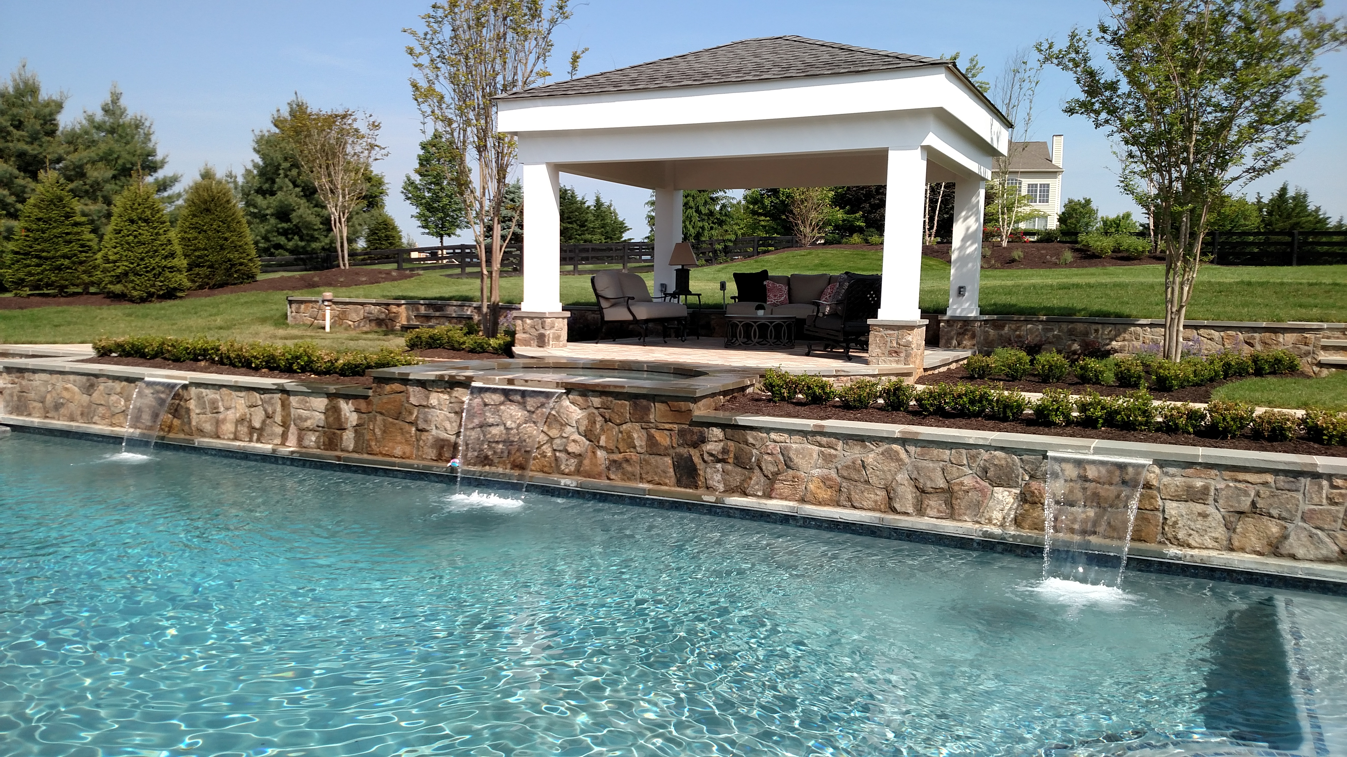 Outdoor pavilion pool Loudoun County